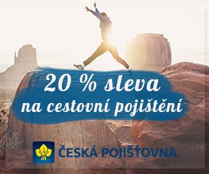 20% sleva na cestovní pojištění